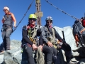 Na szczycie, obwieszeni szpejem jak po zrobieniu El Capa :)