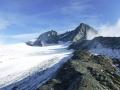 Widok na Grossglockner i lodowiec Teischnitzkees (droga podejścia pod grań).