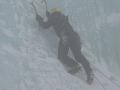 Michał na lodospadzie.