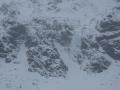 Lodospady, na których się wspinaliśmy - widziane ze szlaku.