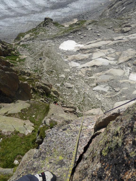 Widok z La Piege, w oddali widoczny nasz namiot.